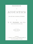 Handbook of Acoustics - for the use of Musical Students