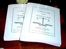 Common and Statutory Law Self Study Course vol.1 (Torts, Liens and Criminal Procedures) and vol. II (Practice and Civil Actions), Constitutional Law