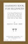 Harmony Book for Beginners