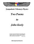 Two Poems to John Keely
