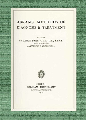 Abrams' Methods of Diagnosis and Treatment