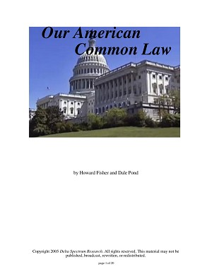 Our American Common Law