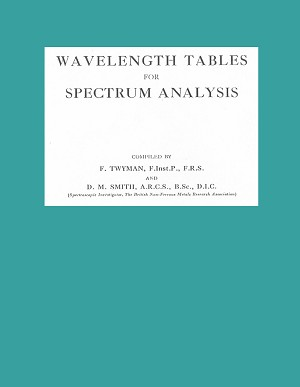 Wavelength Tables for Spectrum Analysis