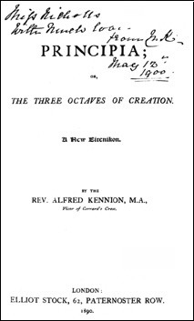 Principia; or the Three Octaves of Creation